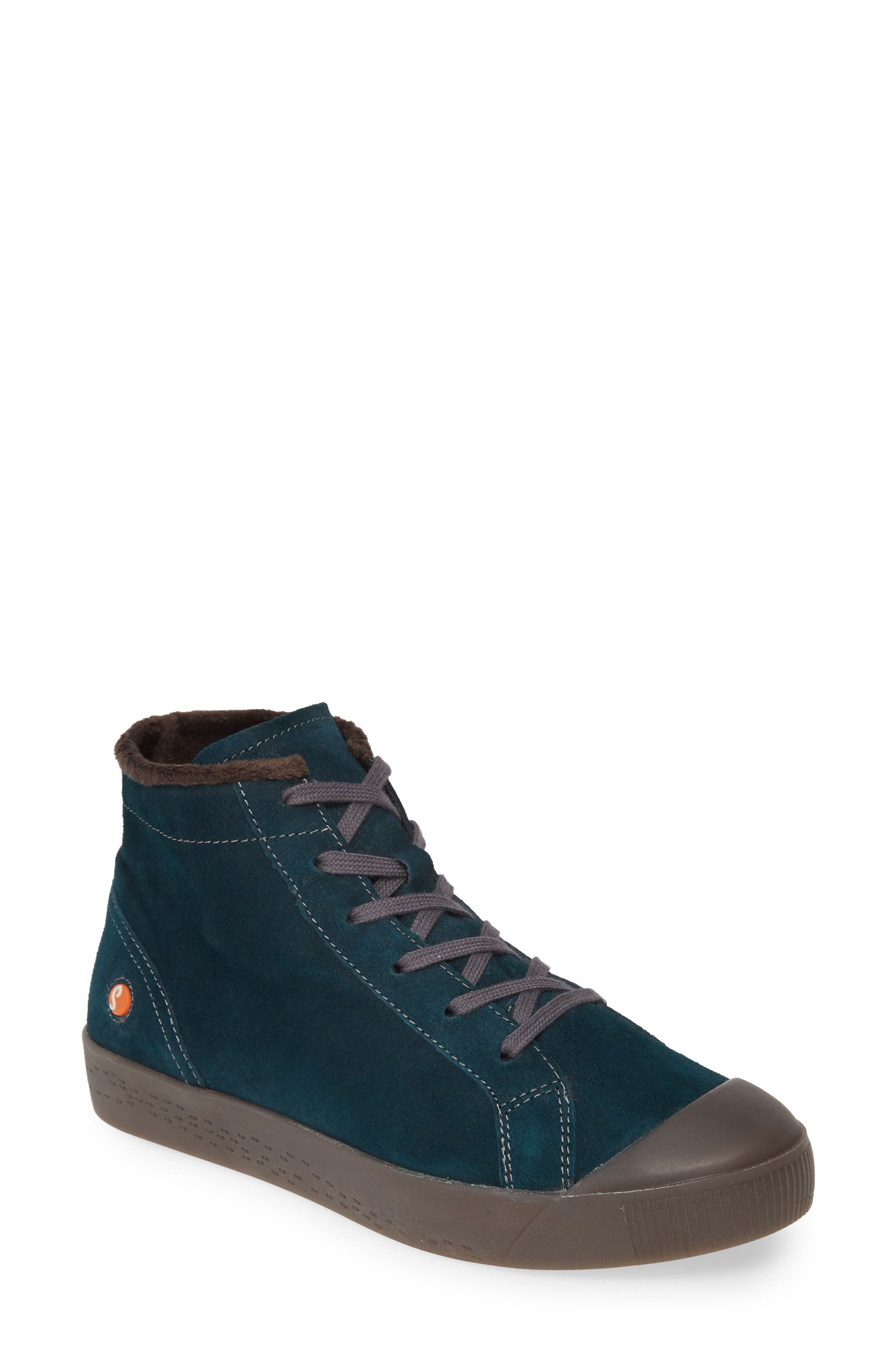 Softinos By Fly London Kip High Top Sneaker - Blue