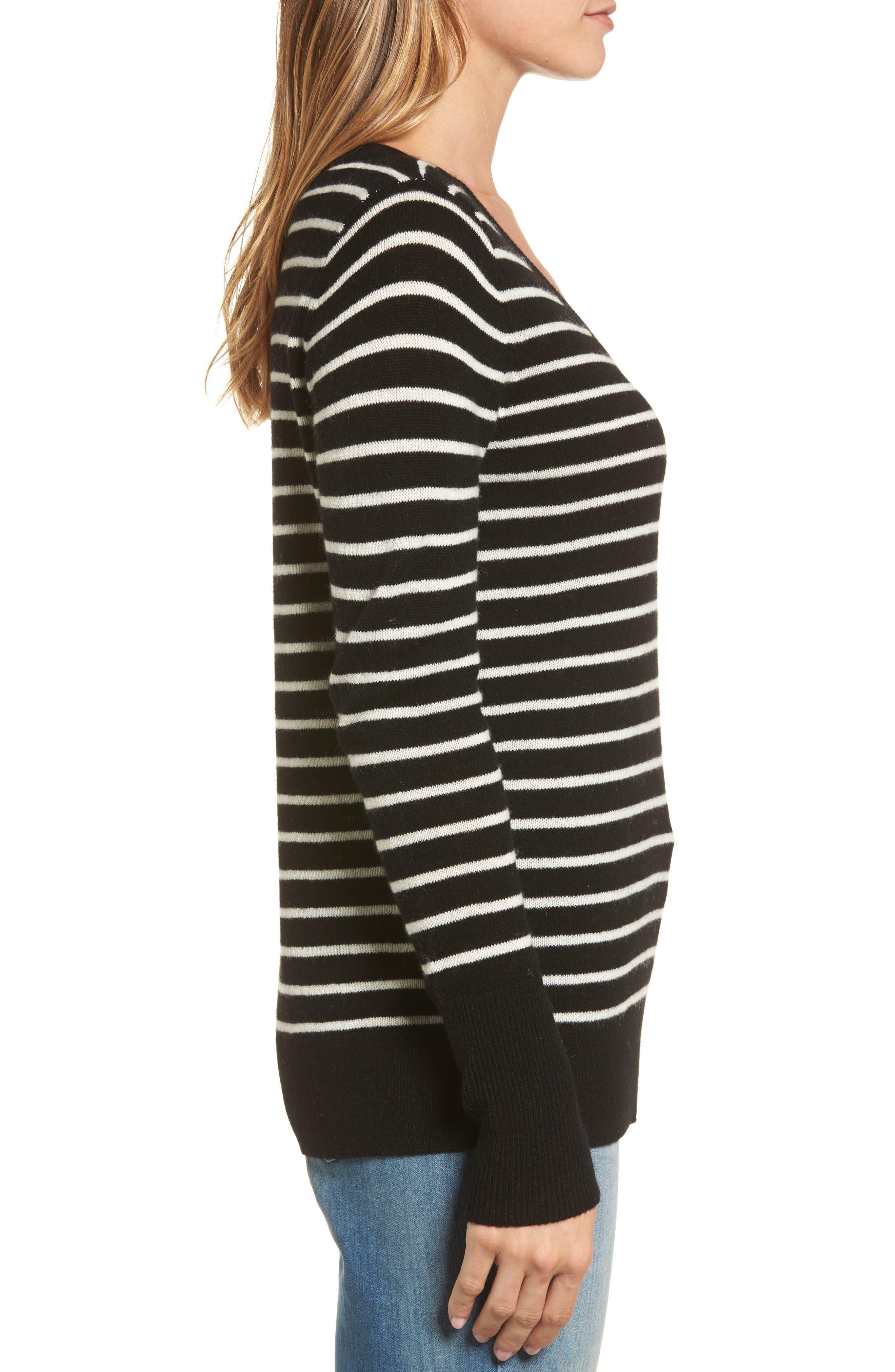 ,                             V-Neck Cashmere Sweater,                             Alternate thumbnail 9, color,                             003