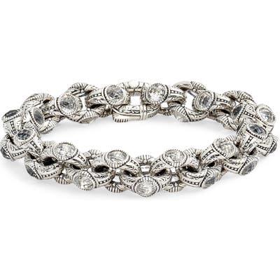 Konstantino Pythia Crystal Chain Link Bracelet