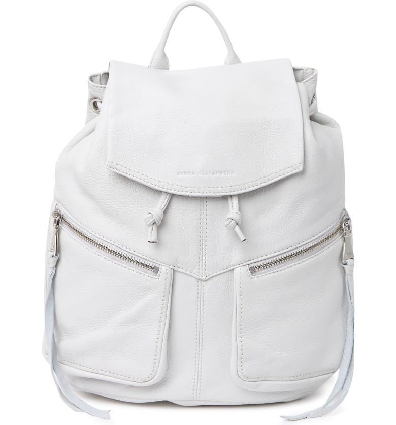 AIMEE KESTENBERG Venice Leather Flap Backpack, Main, color, CLOUD
