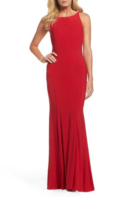 Image of IEENA FOR MAC DUGGAL Low Back Sleeveless Trumpet Gown