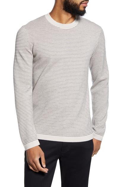 Theory Sweaters OLLIS STRIPE CREWNECK WOOL SWEATER