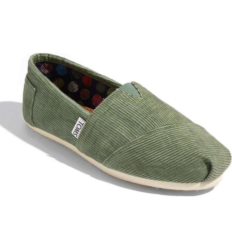 TOMS 'Classic' Corduroy Slip-On, Main, color, 300