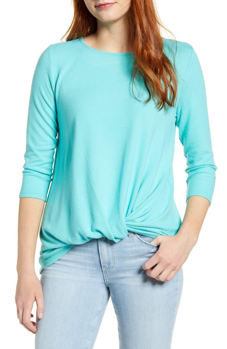 GIBSON Cozy Twist Front Pullover, Main, color, BAJA SUR