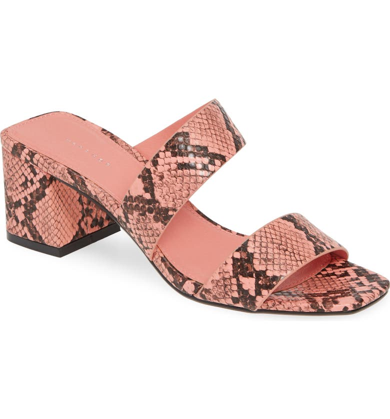 TOPSHOP Darla Slide Sandal, Main, color, PINK MULTI PRINT