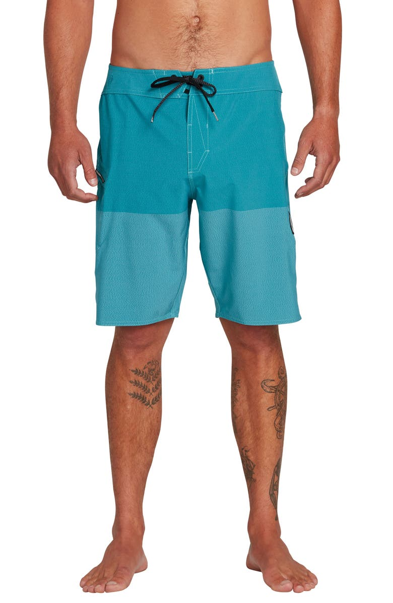 VOLCOM Lido Heather Board Shorts, Main, color, CHLORINE