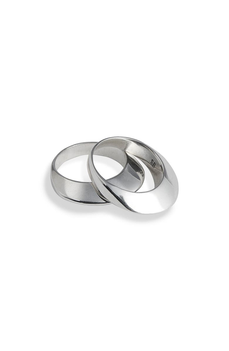 SOPHIE BUHAI Set of 2 Disc Stacking Rings, Main, color, 040