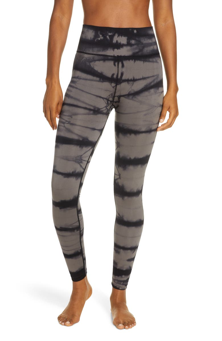 ZELLA Tie Dye Seamless Ankle Leggings, Main, color, GREY KITTEN
