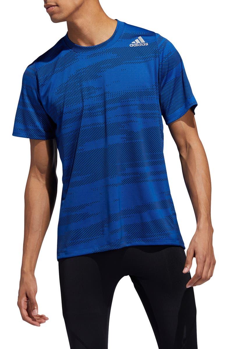 ADIDAS Freelift Winterize Jacquard T-Shirt, Main, color, 400
