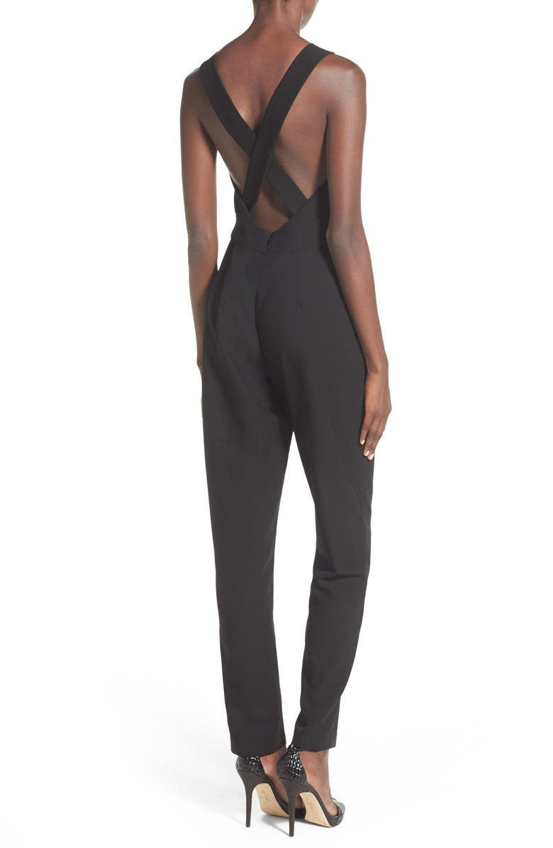 WAYF V-Neck Jumpsuit, Main, color, 001