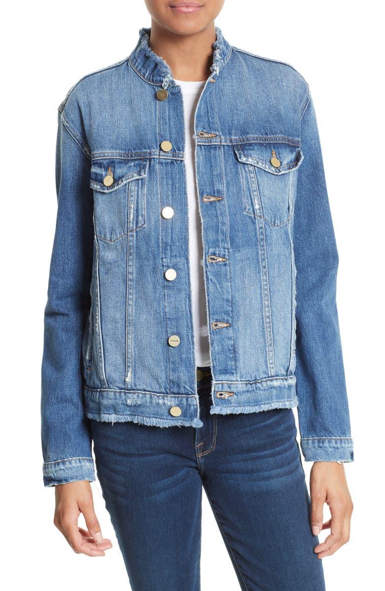 FRAME Le Fray Denim Jacket, Main, color, 421