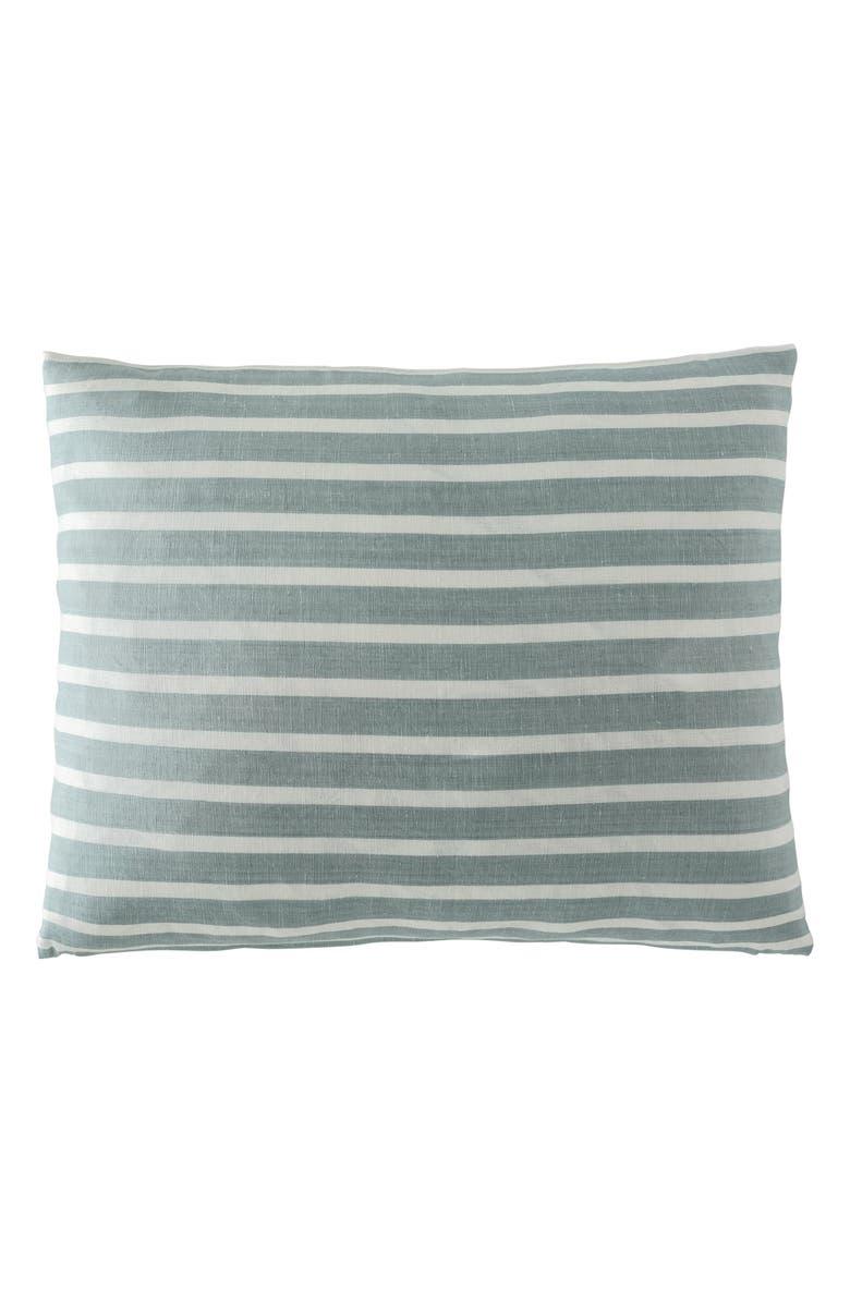 EADIE LIFESTYLE Coitier Scatter Linen & Cotton Accent Pillow, Main, color, SEA MIST/ WHITE