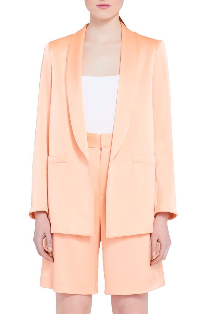 ALICE + OLIVIA Shawl Collar Jacket, Main, color, LIGHT PEACH