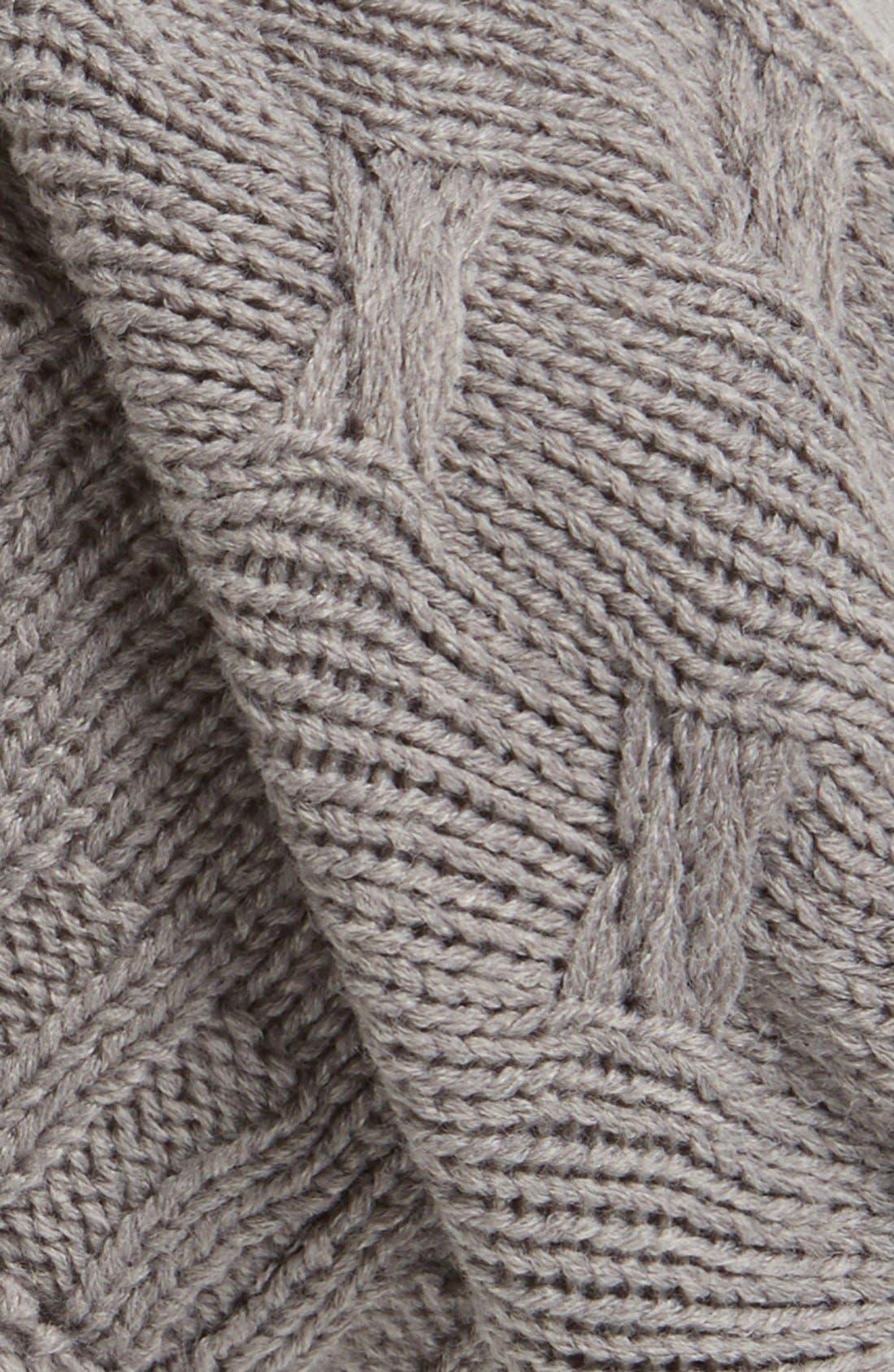 ,                             Braid Knit Beanie,                             Alternate thumbnail 4, color,                             020
