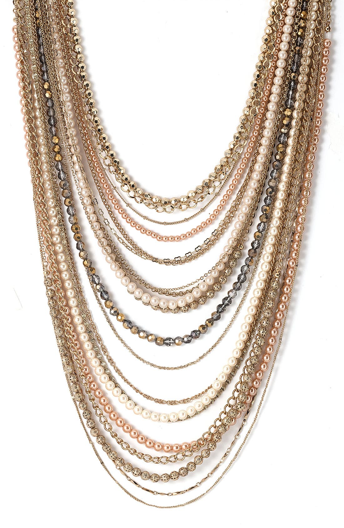 ,                             Beaded Long Multistrand Necklace,                             Main thumbnail 20, color,                             710