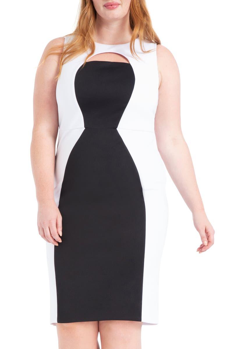 ELOQUII Colorblock Sleeveless Dress (Plus Size)   Nordstrom