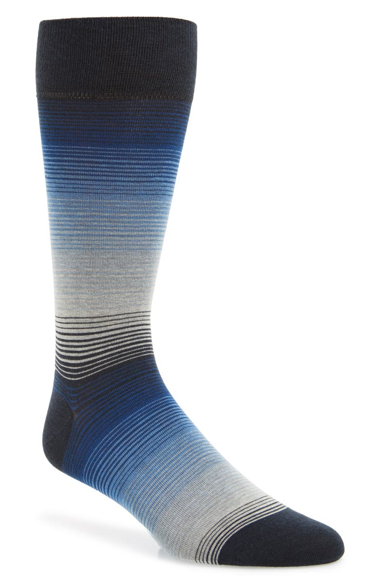 COLE HAAN Gradient Stripe Socks, Main, color, BLUEBERRY