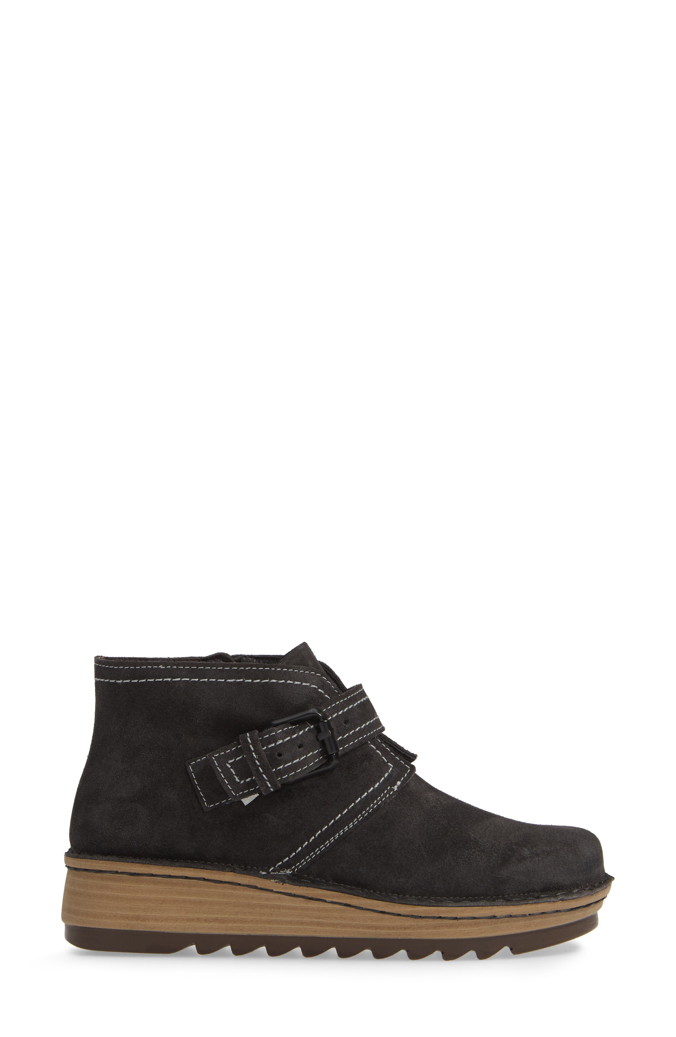 ,                             Louisa Wedge Bootie,                             Alternate thumbnail 3, color,                             OILY MIDNIGHT SUEDE