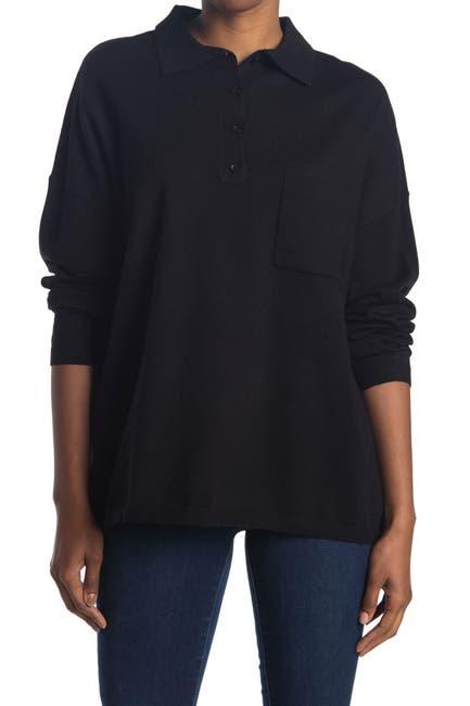 Image of Modern Designer Oversized Polo Tunic Sweater