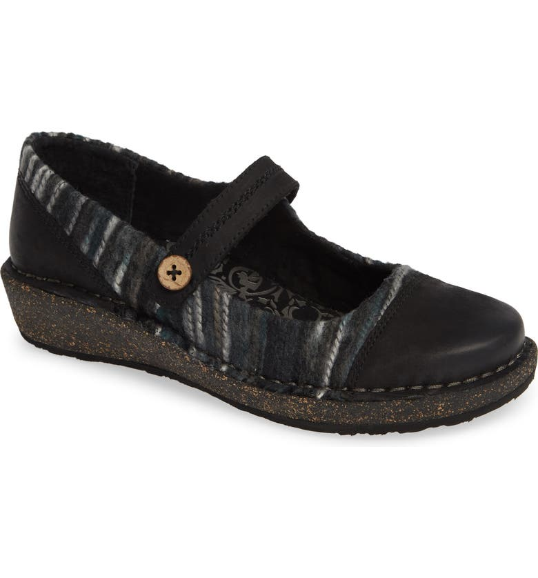 AETREX Janine Mary Jane Flat, Main, color, BLACK LEATHER