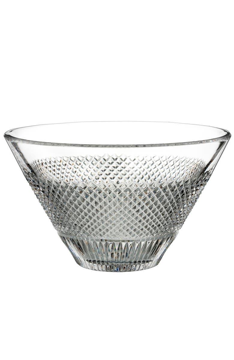 WATERFORD Diamond Line Lead Crystal Bowl, Main, color, CRYSTAL