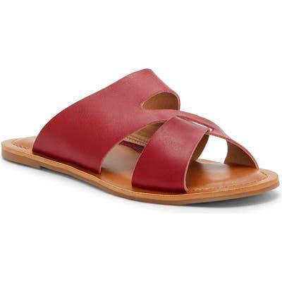 Lucky Brand Leelan Slide Sandal, Red