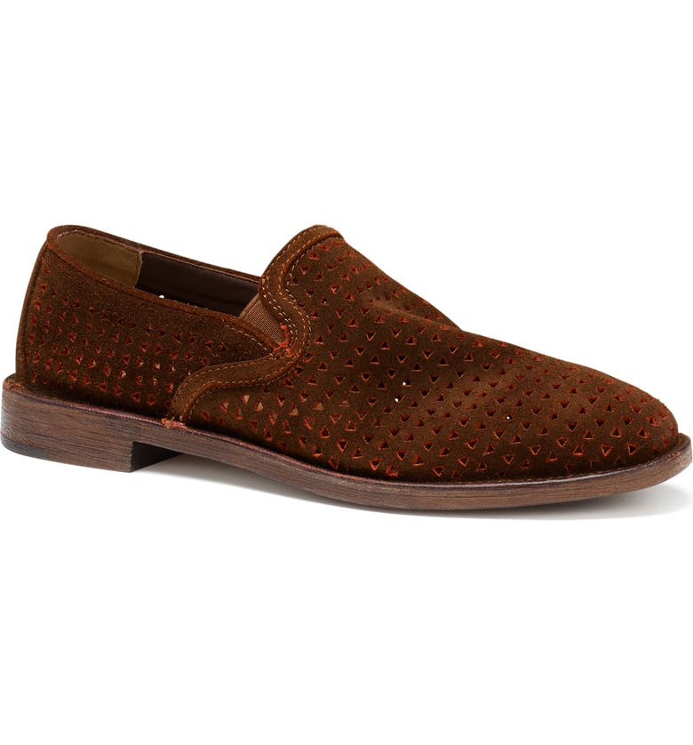TRASK Ali Perforated Loafer, Main, color, BRICK SUEDE