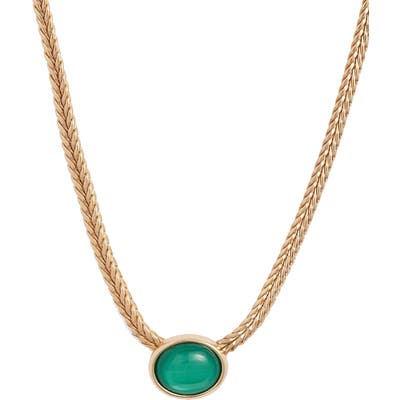 Halogen Synthetic Stone Collar Necklace