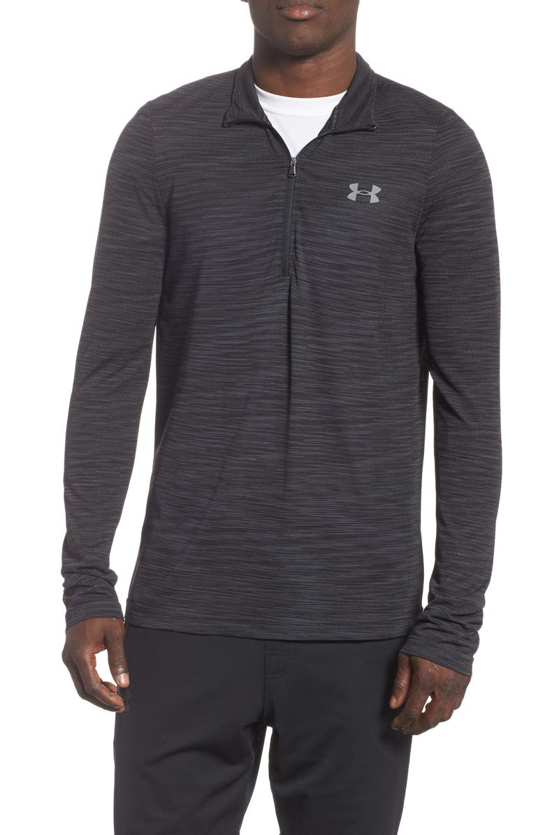 UNDER ARMOUR Siphon Regular Fit Half-Zip Pullover, Main, color, BLACK