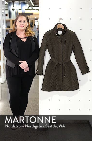 Belted Quilted Coat, sales video thumbnail