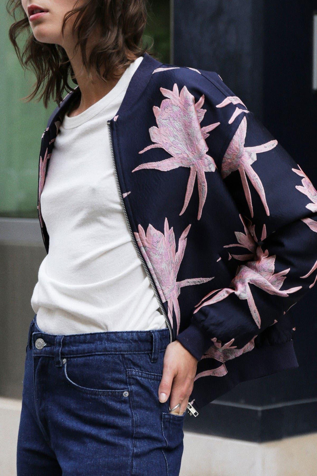 Image of FRNCH Floral Bomber Jacket