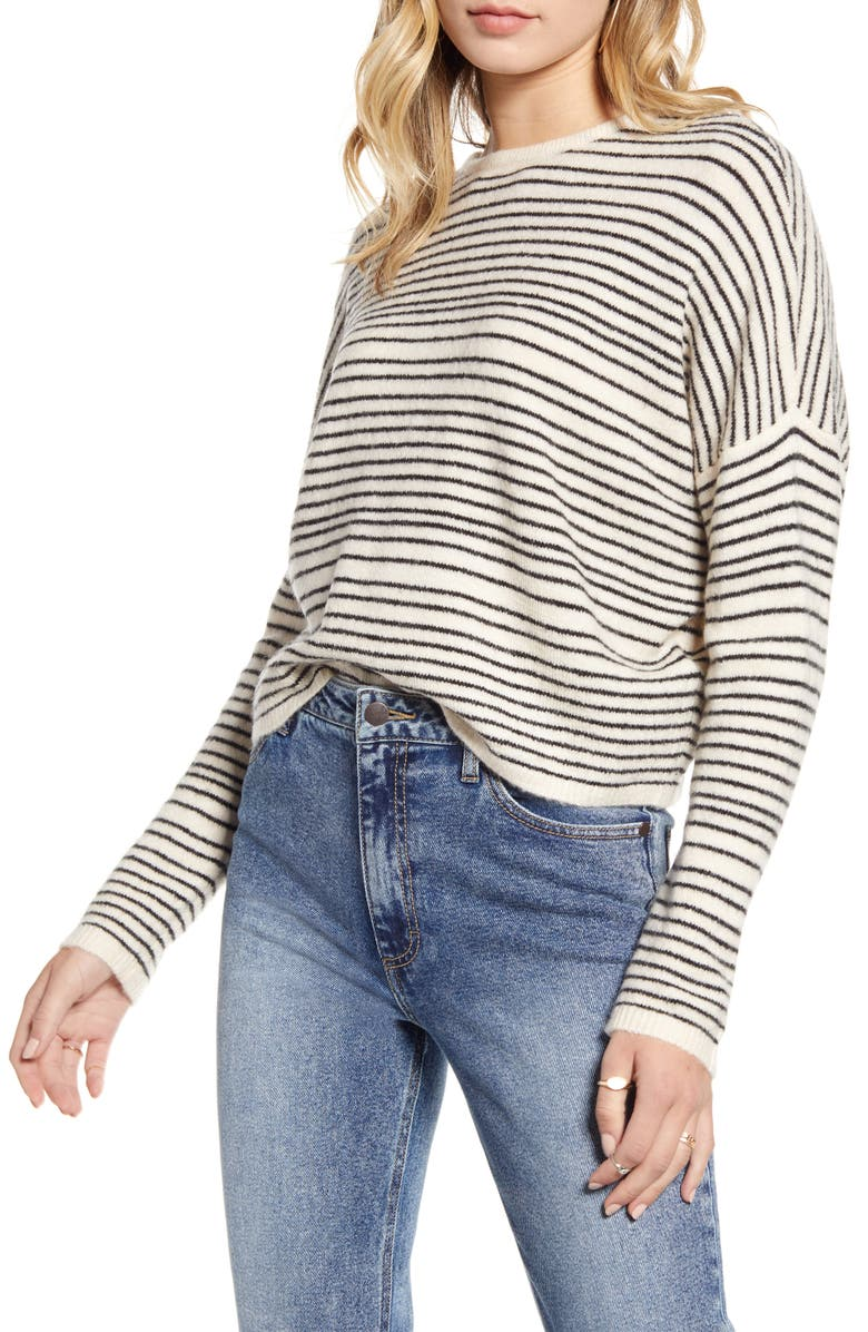 BILLABONG To the Limits Cross Back Sweater, Main, color, WHITE CAP