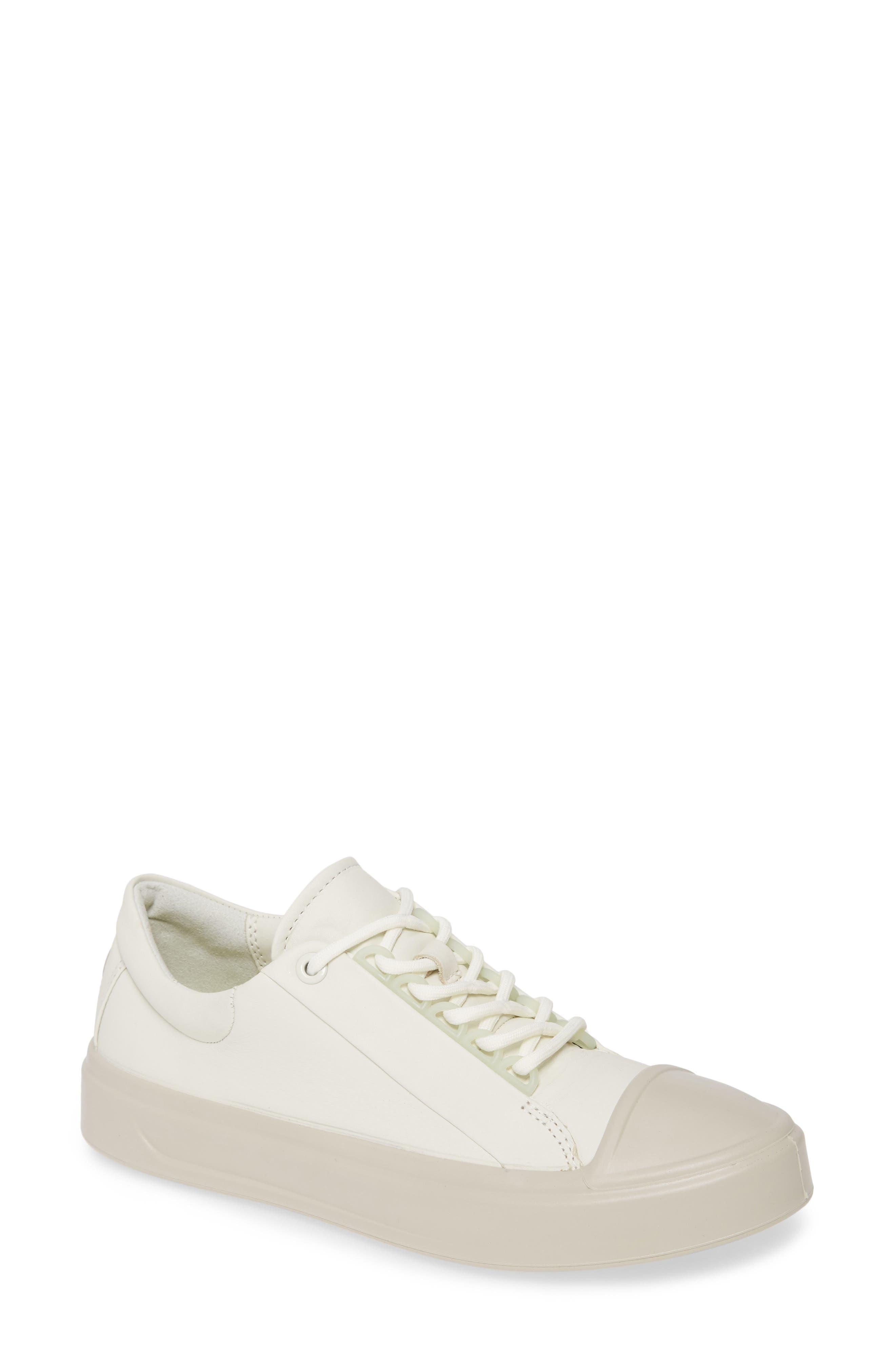 Ecco Flexure Cap Toe Sneaker, White