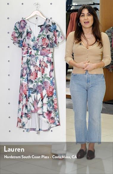 Floral Capelet Sleeve Dress, sales video thumbnail
