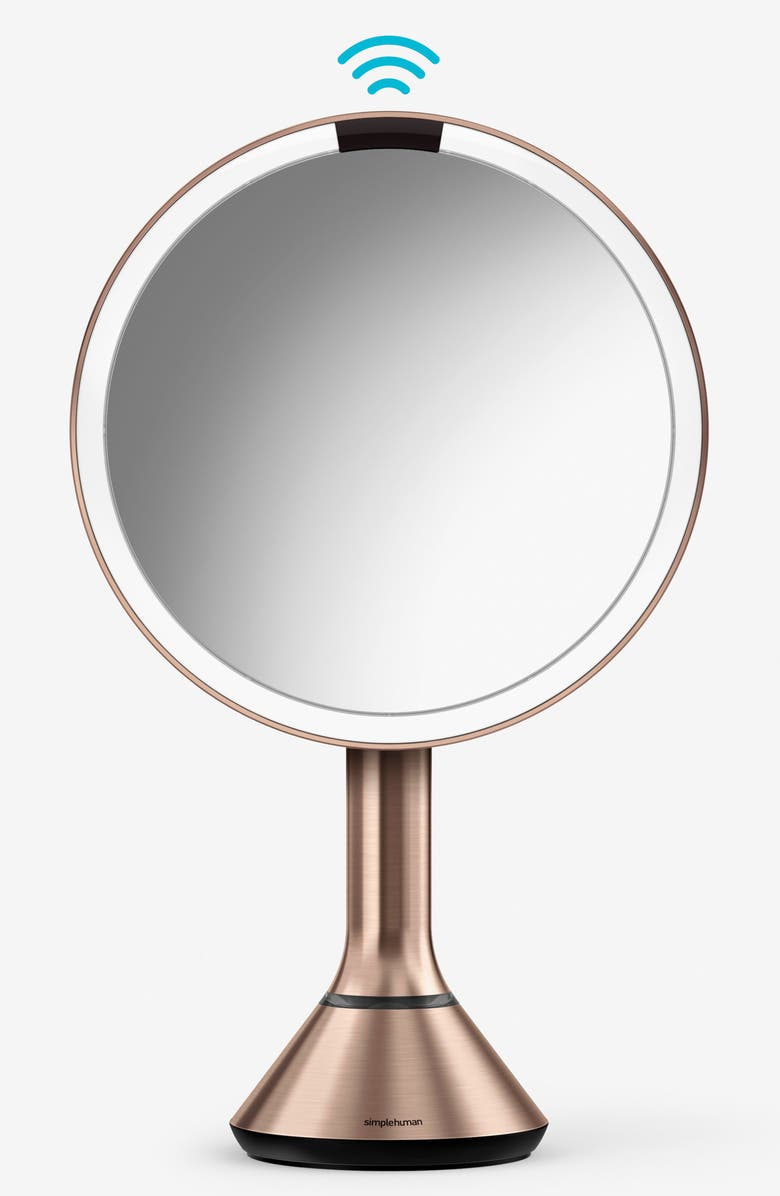 SIMPLEHUMAN 8-Inch Sensor Mirror, Main, color, ROSE GOLD