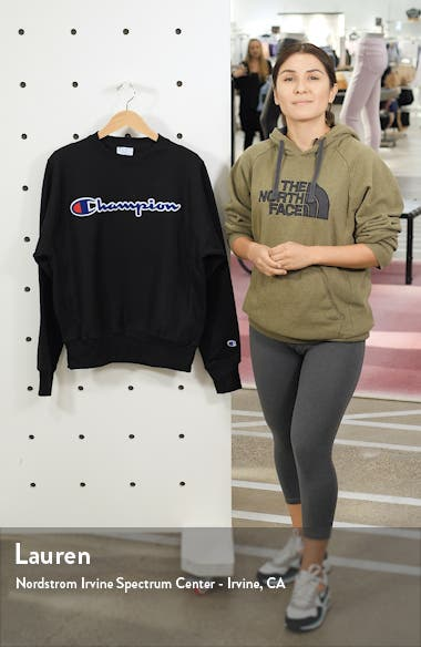 Chenille Logo Reverse Weave Sweatshirt, sales video thumbnail