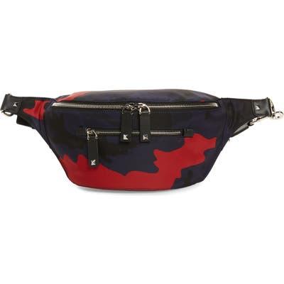 Valentino Camo Belt Bag - Blue