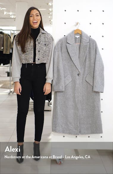 Effie Brushed Longline Coat, sales video thumbnail