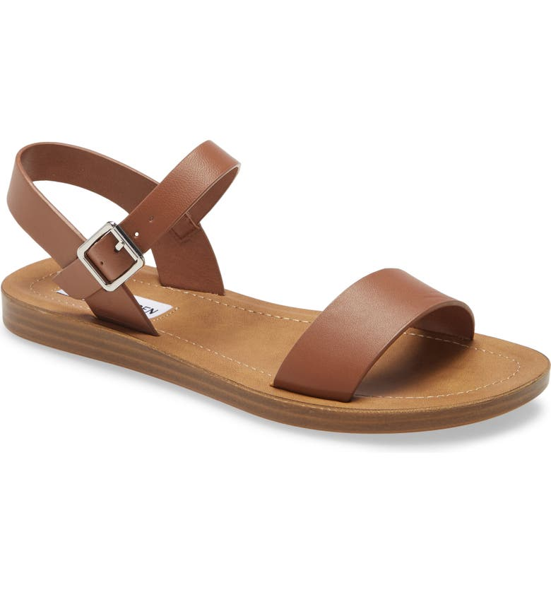 STEVE MADDEN League Quarter Strap Sandal, Main, color, COGNAC LEATHER