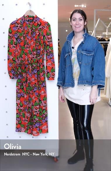 Remi Long Sleeve Silk Dress, sales video thumbnail