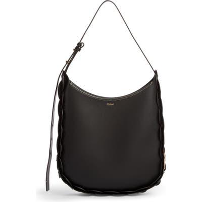 Chloe Medium Darryl Leather Hobo - Black