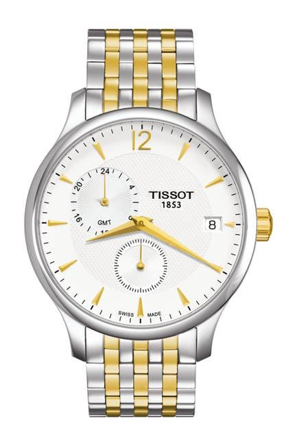 Image of Tissot Men's Tradition GMT Bracelet Watch, 42mm