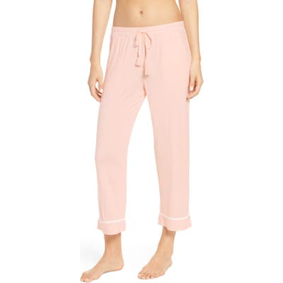 Nordstrom Lingerie Moonlight Crop Pajama Pants, Pink