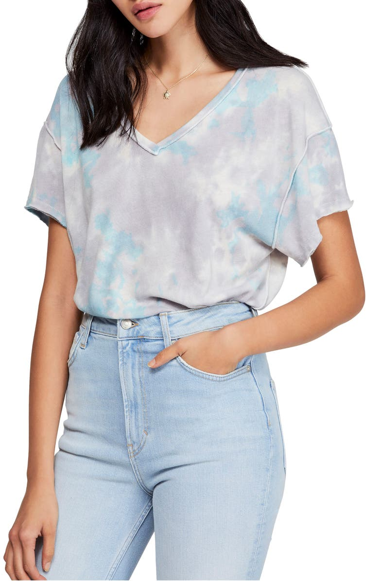 FREE PEOPLE All Mine Tie Dye Tee, Main, color, 030
