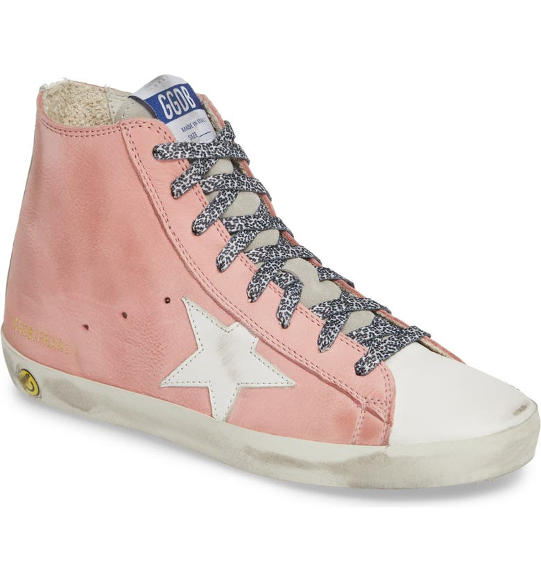 GOLDEN GOOSE Francy High Top Sneaker, Main, color, PINK PEONY