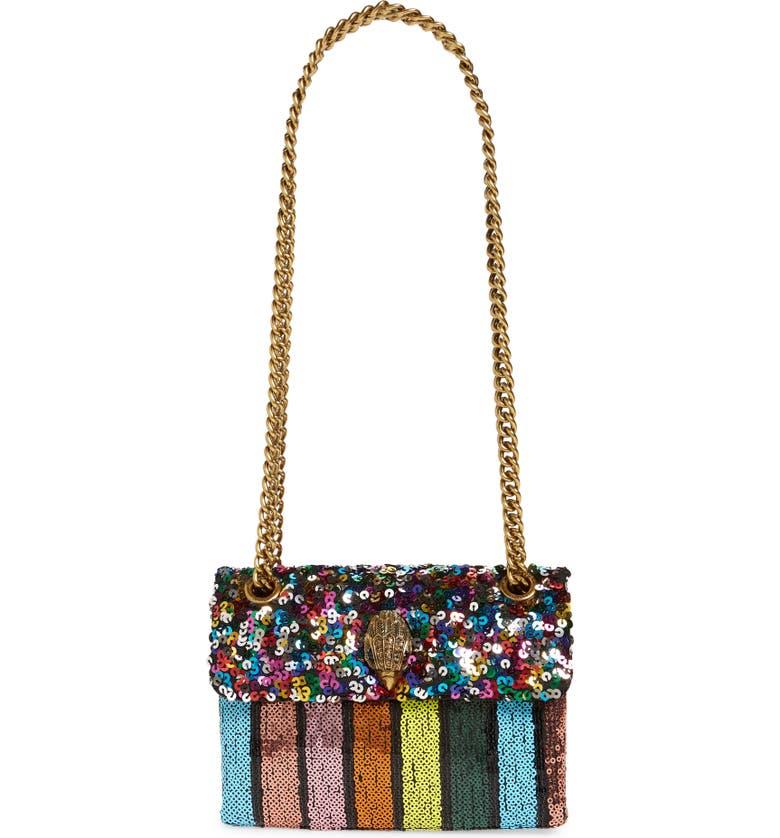 KURT GEIGER LONDON Mini Kensington Sequin Crossbody Bag, Main, color, MULTI