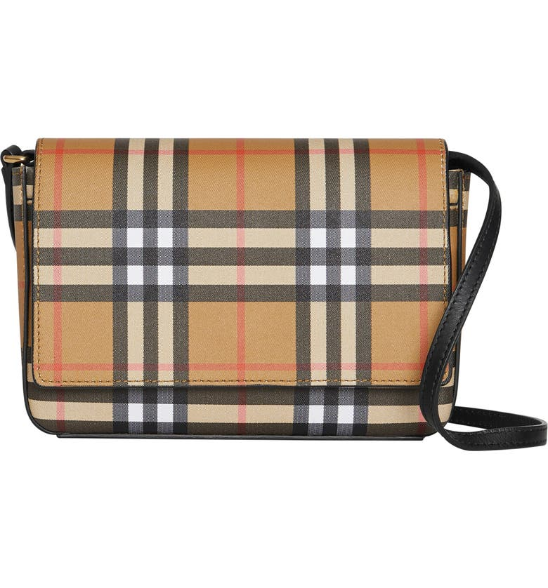 BURBERRY Hampshire Vintage Check Crossbody Bag, Main, color, 001