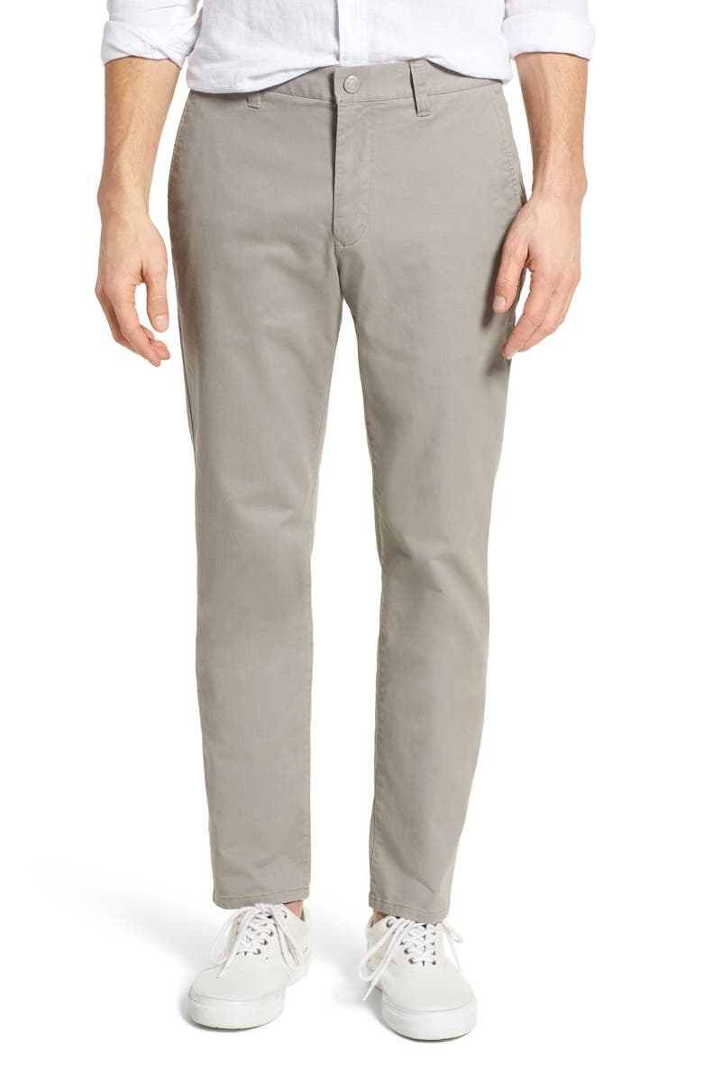 BONOBOS Slim Fit Stretch Washed Chinos, Main, color, GREY DOGS