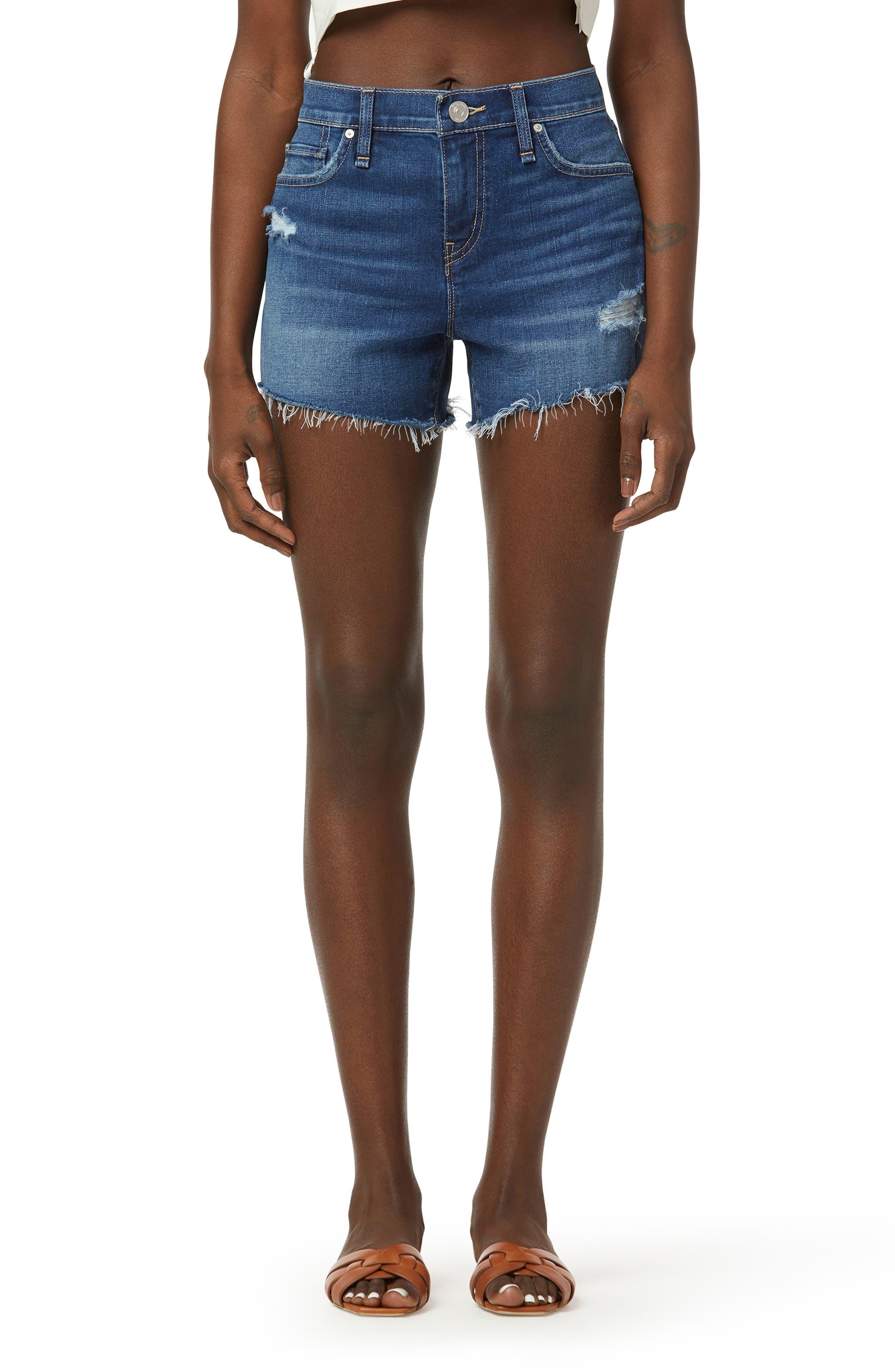 Gemma Cutoff Raw Hem Denim Shorts