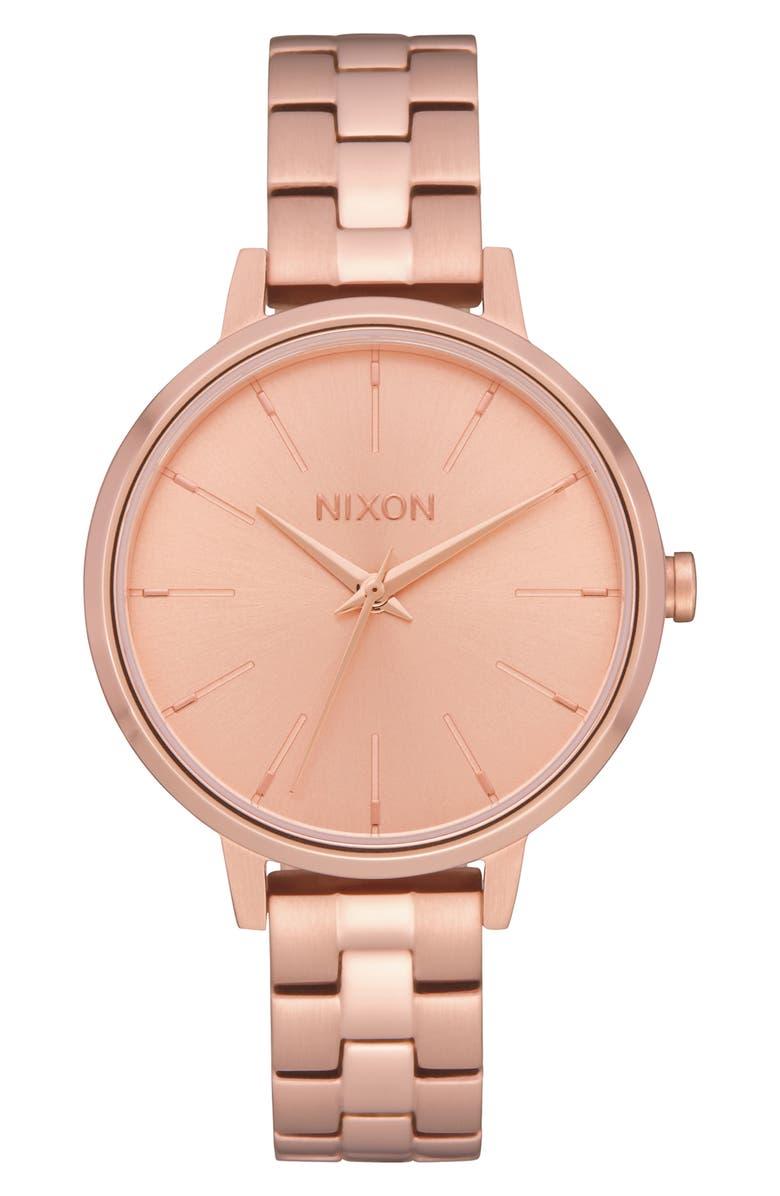 NIXON Medium Kensington Bracelet Watch, 32mm, Main, color, ROSE GOLD